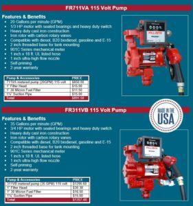Fill Rite Pump pricing